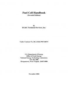 thumbnail of Fuel Cell Handbook 2004