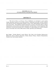 thumbnail of The Nuclear Physics and Reactor Theory Handbook