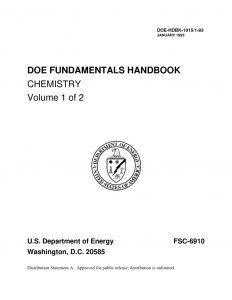 thumbnail of DOE Chemistry vol 1