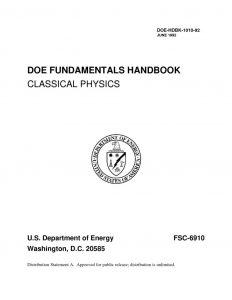 thumbnail of DOE Classical Physics