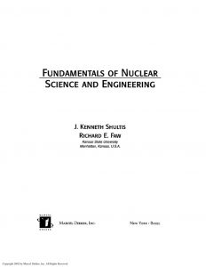 thumbnail of Fundamentals of Nuclear Science & Engineering