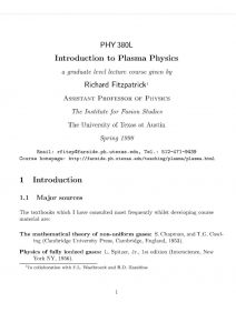 thumbnail of Introduction to plasma physics