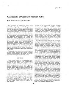 "thumbnail of Applications of Godiva II Neutron Pulses."" In Proc. UN Intern. Conf. Peaceful Uses At. Energy, 2nd, Geneva, 1958 (United Nations, Geneva), vol. 10, pp. 449-460, (1958)"