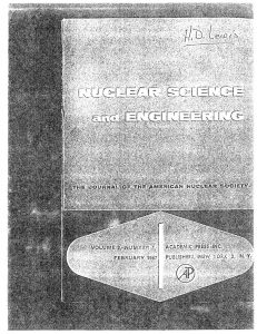 thumbnail of Experimental Study of Transient Behavior in a Subcooled Water-Moderated Reactor Nucl Sci. Eng 2 96-115 1957