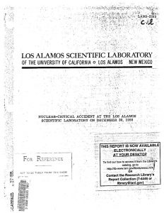 thumbnail of LAMS-2293 Nuclear-Critical Accident at the Los Alamos Scientific Laboratory on December 30, 1958