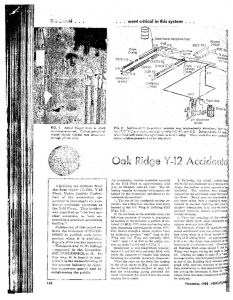 thumbnail of Oak Ridge Y-12 Accidental Excursion, June 16, 1958 Nucleonics 16 Nov pp. 138-140 200-203 1958