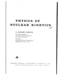 thumbnail of Physics of Nuclear Kinetics