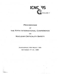 thumbnail of RFNC-VNIITF Short Historical Sketch of Cri tical Mass Measurements In Proc of the Fifth International Conference on Nuclear Criticality Safety September 17-21 1995 pp P-31- P-36 1995