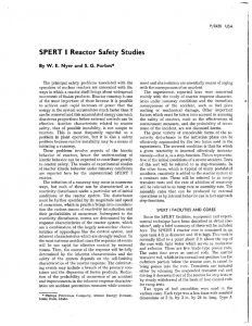 thumbnail of SPERT-1 Reactor Safety Studies