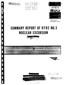 thumbnail of APEX-509 Summary Report of HTRE No. 3 Nuclear Excursion