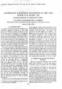 thumbnail of Accidental Radiation Excursion at the Oak Ridge Y-12 Plant, Part III, Determination of Doses Health Physics 2 p 121 1959