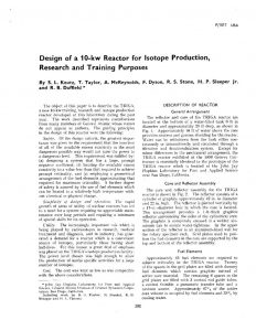 thumbnail of Design of a 10-kw Reactor for Isotope Production, Research and Training Purposes