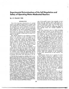 thumbnail of Experimental Determinations of the Self-Limitation of Power During Reactivity Transients in a Subcooled, Water-Moderated Reactor Argonne National Laboratory ANL-5323 1954