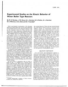thumbnail of Experimental Studies on the Kinetic Behavior of Water Boiler Type Reactors