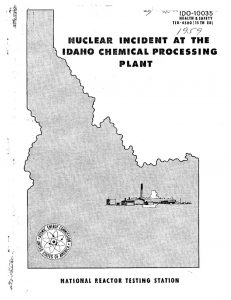 thumbnail of IDO-10035 Nuclear Incident at the Idaho Chemical Processing Plant on October 16, 1959