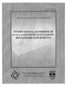 thumbnail of NEA Nuclear Science Committee International Handbook of Evaluated Criticality Safety Benchmark Experiments NEA-NSC-DOC-(95)-03 (September 1998)