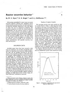 thumbnail of Reactor Excursion Behavior 1965