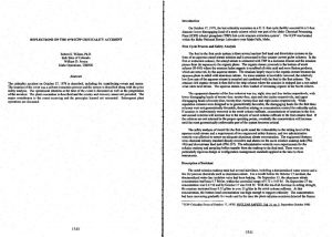 thumbnail of Reflections on the 1978 ICPP Criticality Accident1999