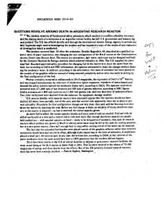 thumbnail of US NRC Information Notice No. 83-66 Supplement 1 Fatality at Argentine Critical Facility, (May 25, 1984)